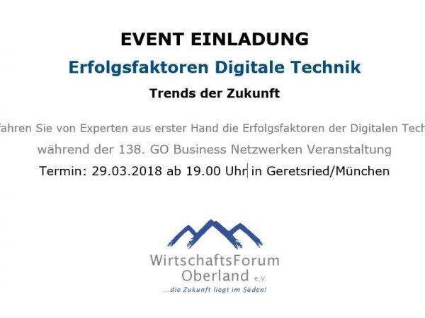 Event-Einladung: Erfolgsfaktoren Digitale Technik